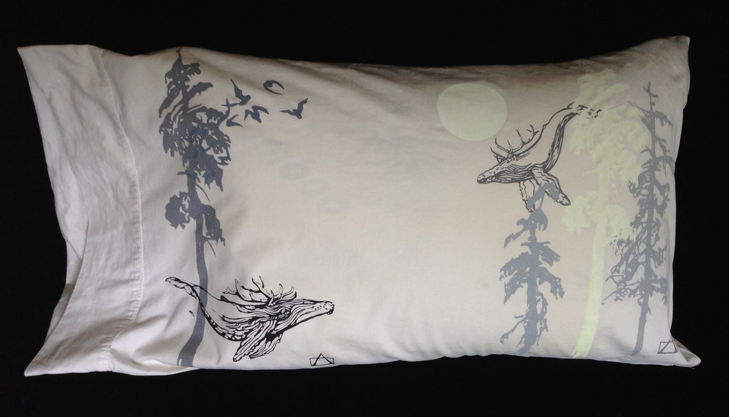 Night-Glow upcycled KING pillowcase-nearly perfect