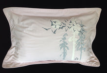 Upcycled QUEEN pillow sham SET