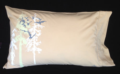 Night-Glow upcycled QUEEN pillowcase SET