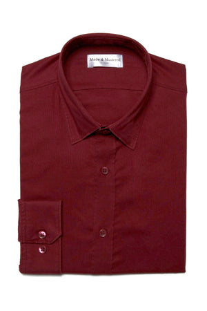 The Trotter Button Up  | Semi-Fitted | Vintage Burgundy