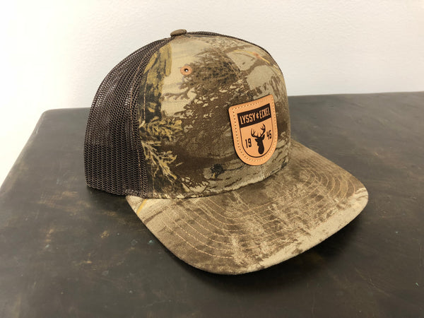 Camo/Leather Patch - Structured Cap