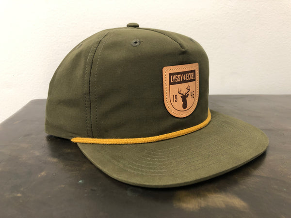 Old School Nylon - Olive Deer Patch - Richardson 256