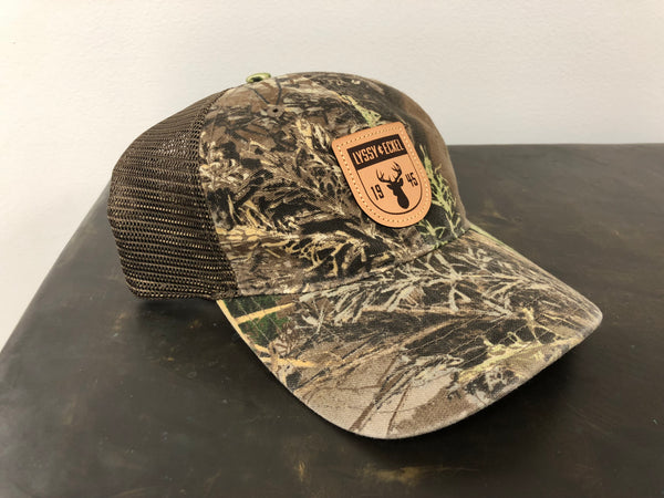 Camo/Leather Patch - Unstructured Cap