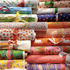 This FAT QUARTER BUNDLE contains 21 quilting cotton prints from the 20th Anniversary Collection by Heather Ross for Windham Fabrics  Manufacturer: Windham Fabrics Designer: Heather Ross Collection: 20th Anniversary Collection Material: 100% Cotton  Weight: Quilting