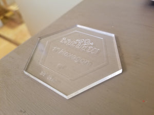 Acrylic 1-Inch Hexagon Template
