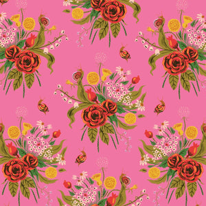 Manufacturer: Windham Fabrics Designer: Heather Ross Collection: 20th Anniversary Collection Print Name: Wild Flowers in Pink Material: 100% Cotton  Weight: Quilting  SKU: WIND 42205A-1 Width: 44 inches