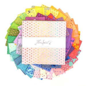 "This Factory Cut LAYER CAKE bundle contains 42 - 10"" x 10""quilting cotton prints from True Colors by Tula Pink for Freespirit Fabrics  Manufacturer: FreeSpirit Fabrics Designer: Tula Pink Collection: True Colors Material: 100% Cotton  Weight: Quilting"