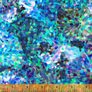 Manufacturer: Windham Fabrics Designer: Whistler Studios Collection: Impressionist Floral Print Name: Sea Blue Material: 100% Cotton  Weight: Quilting  SKU: WIND 51796-D1 Width: 44 inches