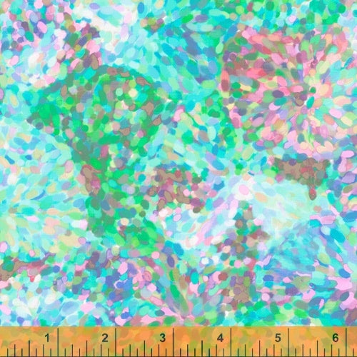 Manufacturer: Windham Fabrics Designer: Whistler Studios Collection: Impressionist Floral Print Name: Sky Blue Material: 100% Cotton  Weight: Quilting  SKU: WIND 51796-D2 Width: 44 inches