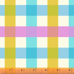 Manufacturer: Windham Fabrics Designer: Heather Ross Collection: Malibu Print Name: Big Gingham in Aquamarine Material: 100% Cotton  Weight: Quilting  SKU: WIND 52148-2 Width: 44 inches