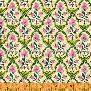 Manufacturer: Windham Fabrics Designer: Heather Ross Collection: Malibu Print Name: Wood Block in Pink Material: 100% Cotton  Weight: Quilting  SKU: WIND 52151-7 Width: 44 inches