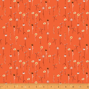 Manufacturer: Windham Fabrics Designer: Heather Ross Collection: Far Far Away 3 Print Name: Wildflowers in Burnt Orange Material: 100% Cotton  Weight: Quilting  SKU: WIND 52757-15 Width: 44 inches