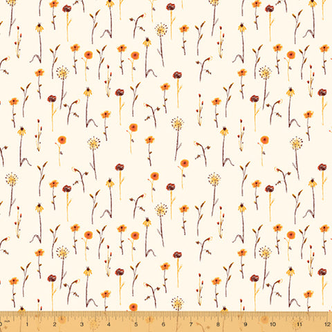 Manufacturer: Windham Fabrics Designer: Heather Ross Collection: Far Far Away 3 Print Name: Wildflowers in Cream Material: 100% Cotton  Weight: Quilting  SKU: WIND 52757-5 Width: 44 inches
