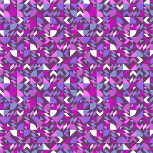 Manufacturer: Andover Fabrics Collection: The Andover Collective Designer: Libs Elliott Print Name: Geometric in Purple Material: 100% Cotton  Weight: Quilting  SKU:  A-9437-P Width: 44 inches