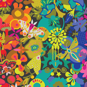 Manufacturer: Andover Fabrics Designer: Alison Glass Collection: Art Theory Print Name: Art Theory Overall in Black Material: 100% Cotton Weight: Quilting  SKU: A-9698-C Width: 44 inches