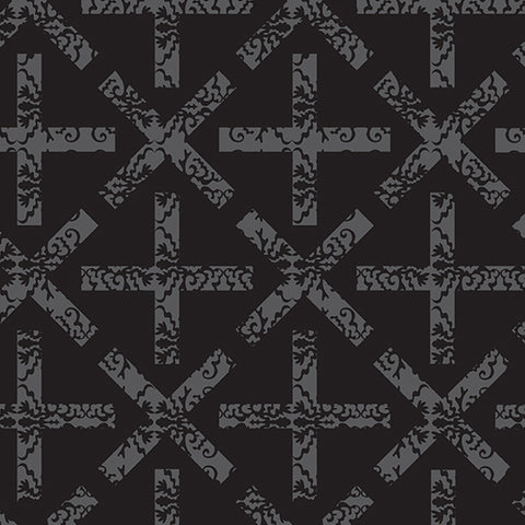 Manufacturer: Andover Fabrics Designer: Alison Glass Collection: Art Theory Print Name: x&+ in Black Material: 100% Cotton Weight: Quilting  SKU: A-9704-C Width: 44 inches