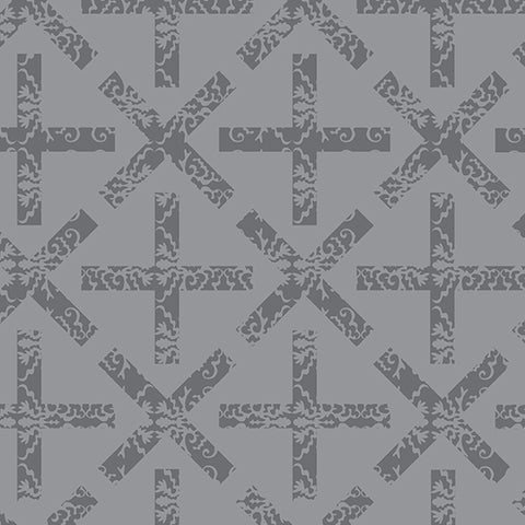 Manufacturer: Andover Fabrics Designer: Alison Glass Collection: Art Theory Print Name: x&+ in Grey Material: 100% Cotton Weight: Quilting  SKU: A-9704-L Width: 44 inches