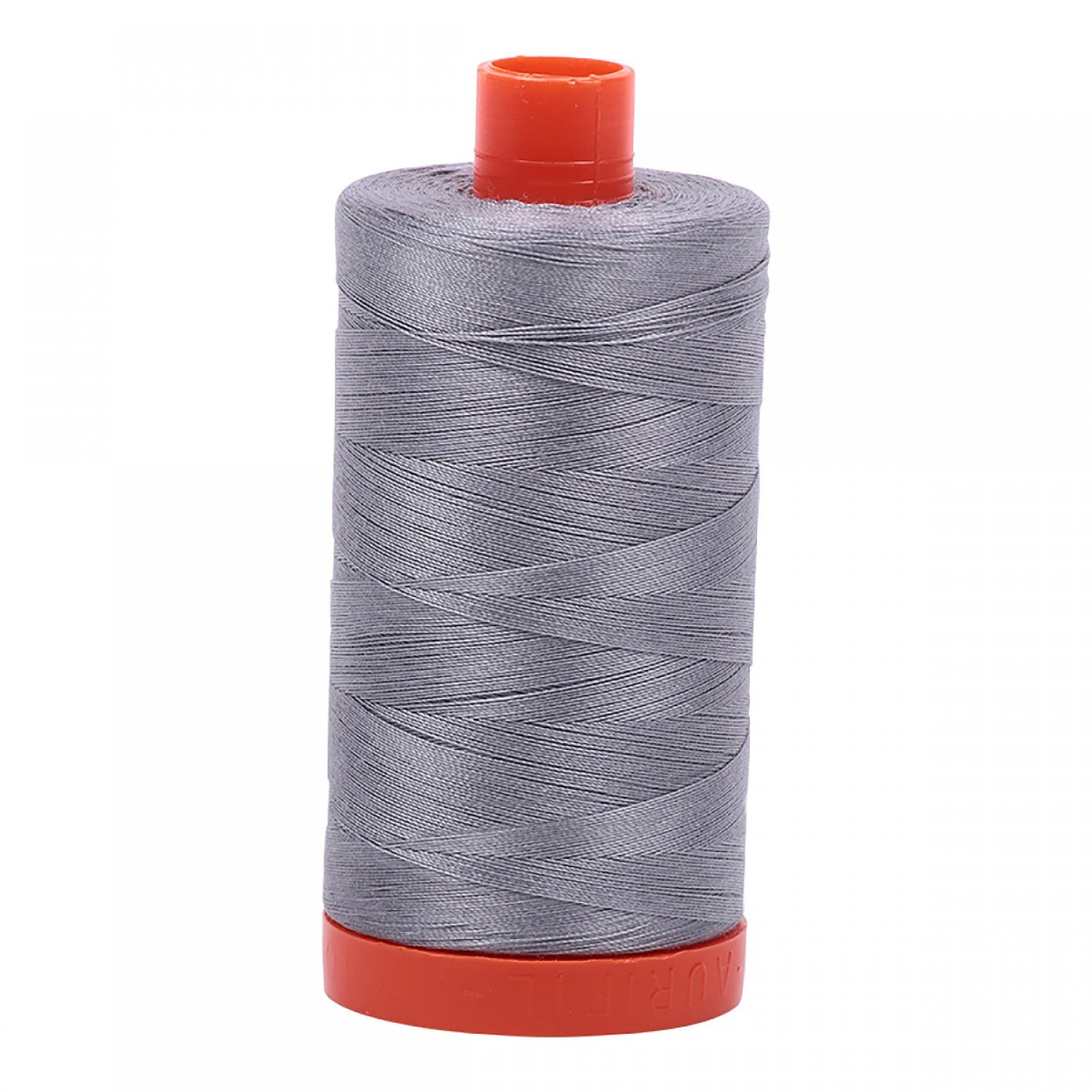 Large Spool 50wt: 2605 Grey. 1422 yds.  100% Long Staple Mercerized Egyptian Cotton.  For Machine Embroidery, Quilting and Serging.