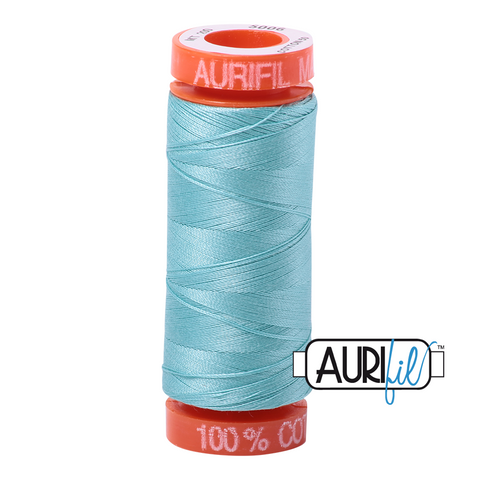 1 small spool 50wt: 5006 Light Turquoise.  220yds.