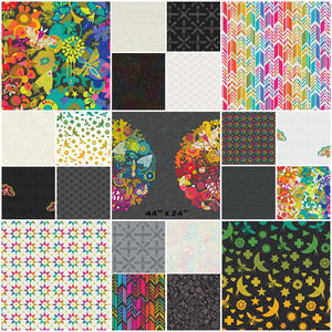 "This HALF YARD BUNDLE contains 20 quilting cotton prints and 2 panels (24"" x 44"") from Art Theory by Alison Glass for Andover Fabrics  Manufacturer: Andover Fabrics Designer: Alison Glass Collection: Art Theory Material: 100% Cotton  Weight: Quilting"