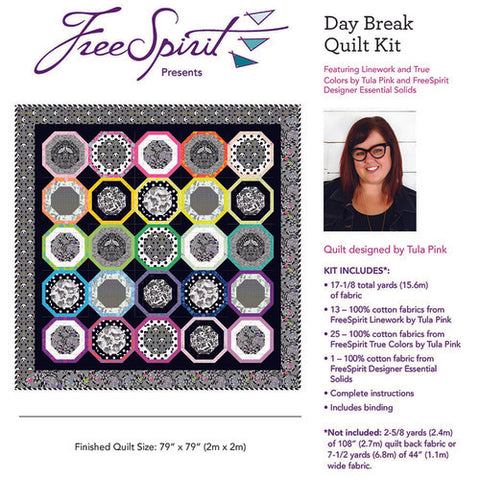 PREORDER || Tula Pink - Linework - Daybreak QUILT KIT - OCTOBER 2020