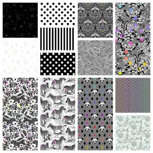 This Factory Cut FAT QUARTER bundle contains 13 quilting cotton prints from Linework by Tula Pink for Freespirit Fabrics Manufacturer: FreeSpirit Fabrics Designer: Tula Pink Collection: Linework Material: 100% Cotton Weight: Quilting