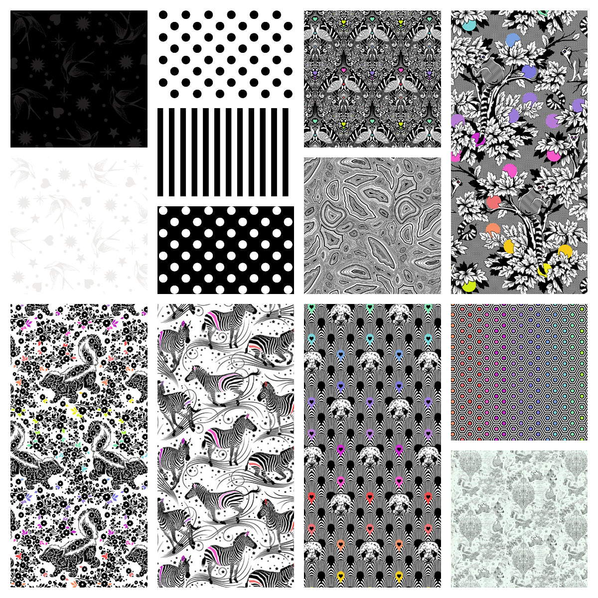 This HALF YARD BUNDLE contains 13 quilting cotton prints from Linework by Tula Pink for Freespirit Fabrics Manufacturer: FreeSpirit Fabrics Designer: Tula Pink Collection: Linework Material: 100% Cotton Weight: Quilting