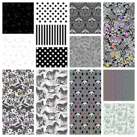 "This Factory Cut CHARM PACK contains 42 x 5"" square quilting cotton prints from Linework by Tula Pink for Freespirit Fabrics Manufacturer: FreeSpirit Fabrics Designer: Tula Pink Collection: Linework Material: 100% Cotton Weight: Quilting"