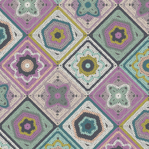 Manufacturer: Art Gallery Fabrics Collection: Hooked Designer: Mathew Boudreaux Print Name:  Crochet Sampler Material: 100% Cotton  Weight: Quilting  SKU: HKD-22650 Width: 44 inches