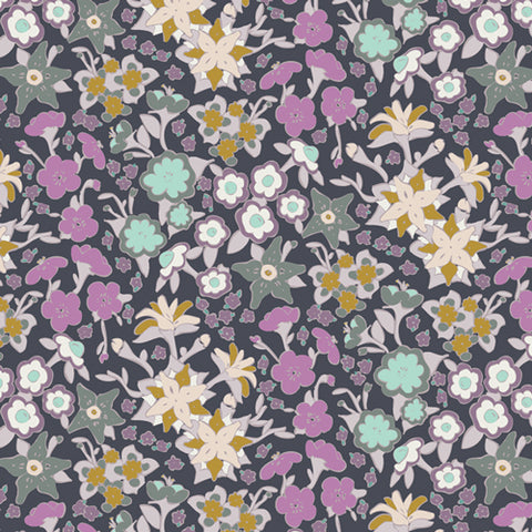 Manufacturer: Art Gallery Fabrics Collection: Hooked Designer: Mathew Boudreaux Print Name:  If They Were Real Material: 100% Cotton  Weight: Quilting  SKU: HKD-22654 Width: 44 inches