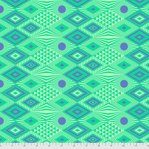 Manufacturer: FreeSpirit Fabrics Designer: Tula Pink Collection: Daydreamer Print Name: Lucy in Lagoon Material: 100% Cotton  Weight: Quilting  SKU: PWTP096.LAGOON Width: 44 inches