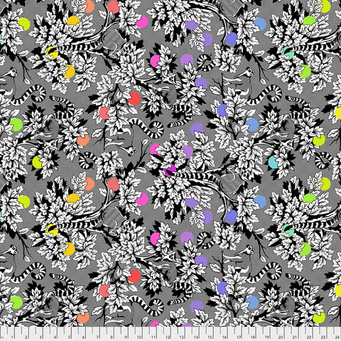Manufacturer: FreeSpirit Fabrics Designer: Tula Pink Collection: Linework Print Name: Lemur Me Alone in Ink Material: 100% Cotton  Weight: Quilting  SKU: PWTP154.INK Width: 44 inches