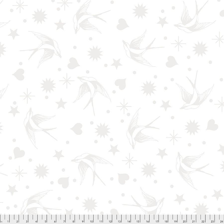 Manufacturer: FreeSpirit Fabrics Designer: Tula Pink Collection: Linework Print Name: Fairy Flakes in Paper Material: 100% Cotton  Weight: Quilting  SKU: PWTP157.PAPER Width: 44 inches