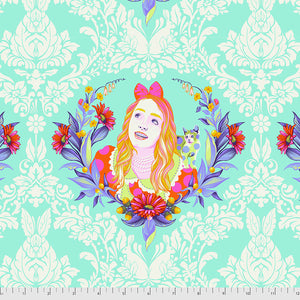 Manufacturer: FreeSpirit Fabrics Designer: Tula Pink Collection: Curiouser & Curiouser Print Name: Alice in Daydream Material: 100% Cotton  Weight: Quilting  SKU: PWTP159.DAYDREAM Width: 44 inches