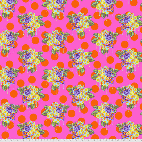 Manufacturer: FreeSpirit Fabrics Designer: Tula Pink Collection: Curiouser & Curiouser Print Name: Painted Roses in Daydream Material: 100% Cotton  Weight: Quilting  SKU: PWTP161.DAYDREAM Width: 44 inches