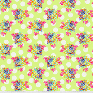Manufacturer: FreeSpirit Fabrics Designer: Tula Pink Collection: Curiouser & Curiouser Print Name: Painted Roses in Sugar Material: 100% Cotton  Weight: Quilting  SKU: PWTP161.SUGAR Width: 44 inches