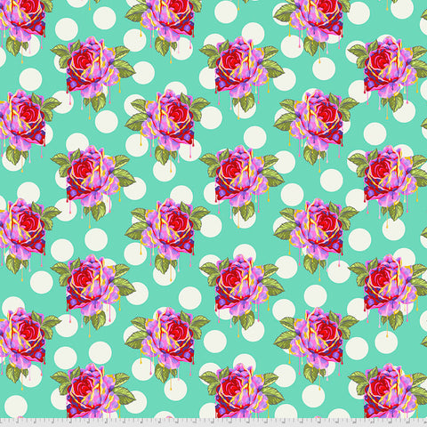 Manufacturer: FreeSpirit Fabrics Designer: Tula Pink Collection: Curiouser & Curiouser Print Name: Painted Roses in Wonder Material: 100% Cotton  Weight: Quilting  SKU: PWTP161.WONDER Width: 44 inches
