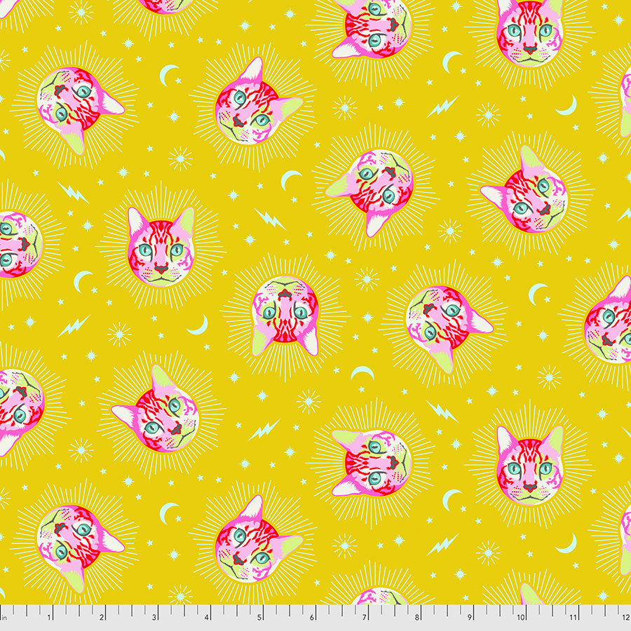 Manufacturer: FreeSpirit Fabrics Designer: Tula Pink Collection: Curiouser & Curiouser Print Name: Chesire in Wonder Material: 100% Cotton  Weight: Quilting  SKU: PWTP164.WONDER Width: 44 inches