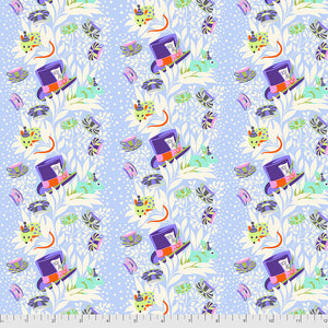 Manufacturer: FreeSpirit Fabrics Designer: Tula Pink Collection: Curiouser & Curiouser Print Name: 6pm Somewhere in Daydream Material: 100% Cotton  Weight: Quilting  SKU: PWTP165.DAYDREAM Width: 44 inches
