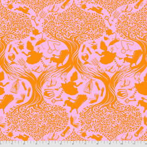 Manufacturer: FreeSpirit Fabrics Designer: Tula Pink Collection: Curiouser & Curiouser Print Name: Down the Rabbit Hole in Wonder Material: 100% Cotton  Weight: Quilting  SKU: PWTP166.WONDER Width: 44 inches