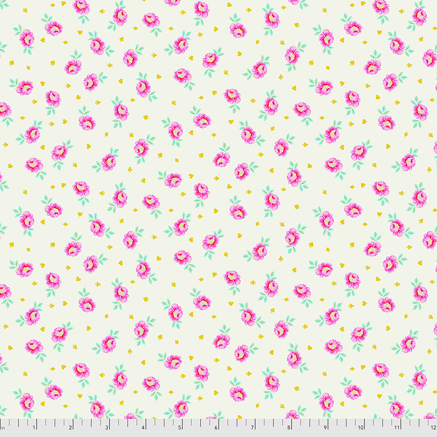 Manufacturer: FreeSpirit Fabrics Designer: Tula Pink Collection: Curiouser & Curiouser Print Name: Baby Buds in Sugar Material: 100% Cotton  Weight: Quilting  SKU: PWTP167.SUGAR Width: 44 inches
