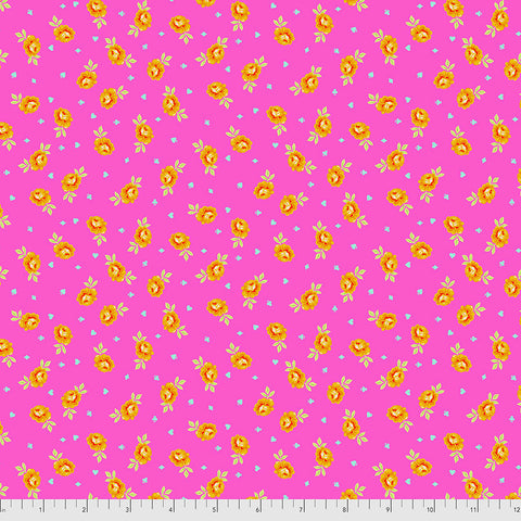 Manufacturer: FreeSpirit Fabrics Designer: Tula Pink Collection: Curiouser & Curiouser Print Name: Baby Buds in Wonder Material: 100% Cotton  Weight: Quilting  SKU: PWTP167.WONDER Width: 44 inches
