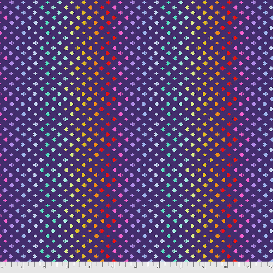 Manufacturer: FreeSpirit Fabrics Designer: Tula Pink Collection: Curiouser & Curiouser Print Name: Suited and Booted in Daydream Material: 100% Cotton  Weight: Quilting  SKU: PWTP168.DAYDREAM Width: 44 inches