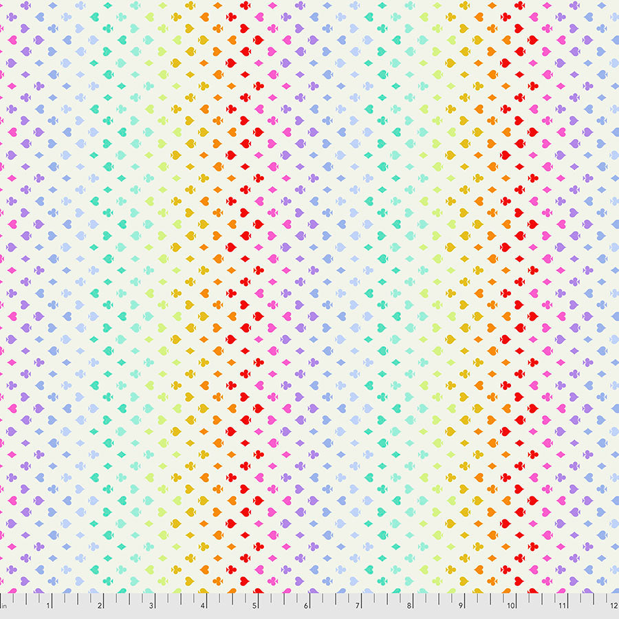 Manufacturer: FreeSpirit Fabrics Designer: Tula Pink Collection: Curiouser & Curiouser Print Name: Suited and Booted in Wonder Material: 100% Cotton  Weight: Quilting  SKU: PWTP168.WONDER Width: 44 inches