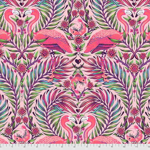 Manufacturer: FreeSpirit Fabrics Designer: Tula Pink Collection: Daydreamer Print Name: Pretty in Pink in Dragonfruit Material: 100% Cotton  Weight: Quilting  SKU: PWTP169.Dragonfruit Width: 44 inches