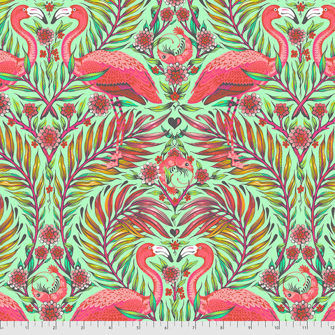 Manufacturer: FreeSpirit Fabrics Designer: Tula Pink Collection: Daydreamer Print Name: Pretty in Pink inMango Material: 100% Cotton  Weight: Quilting  SKU: PWTP169.MANGO Width: 44 inches