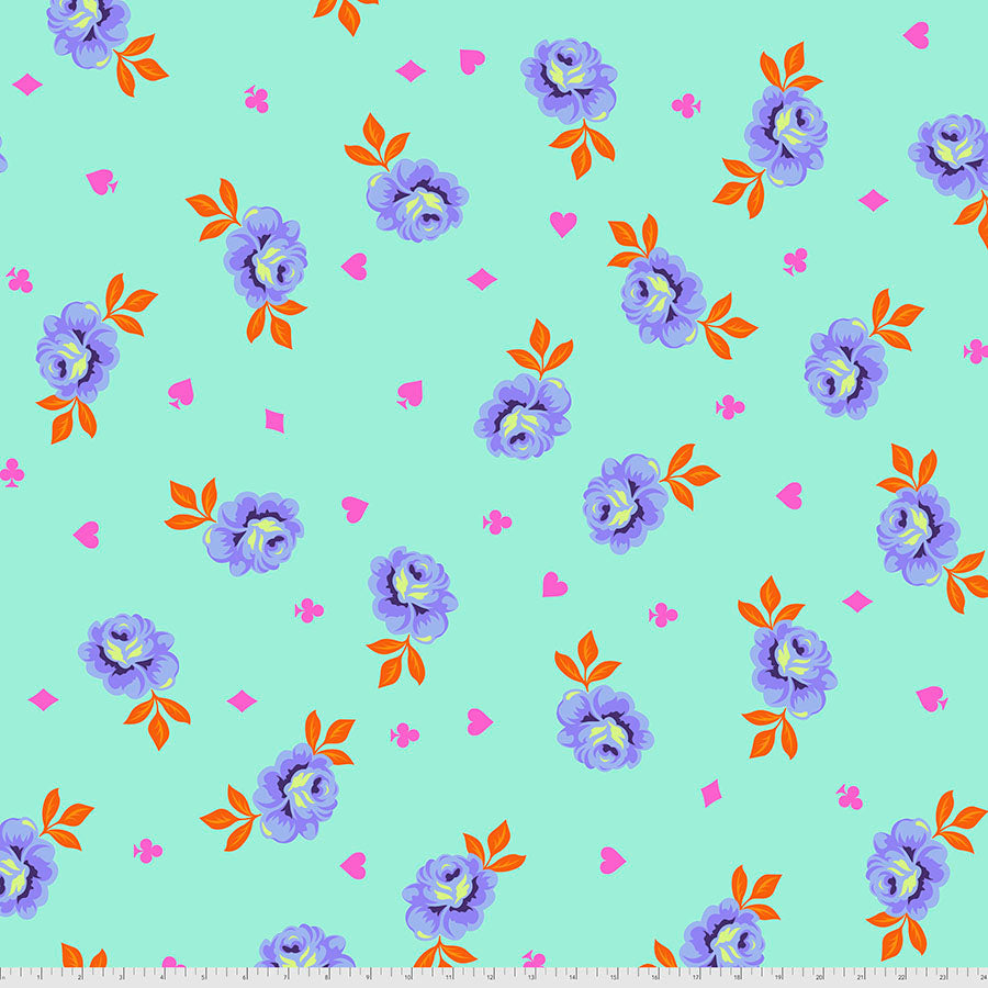 Manufacturer: FreeSpirit Fabrics Designer: Tula Pink Collection: Curiouser & Curiouser Print Name: Big Buds in Daydream WIDEBACK Material: 100% Cotton  Weight: Quilting  SKU: QBTP006.DAYDREAM Width: 108 inches