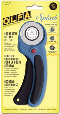Olfa - Olfa Splash Ergonomic 45 mm Rotary Cutter (Pacific Blue)