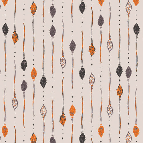 Manufacturer: Art Gallery Fabrics Collection: Spooky 'n Sweet Designer: AGF Studio Print Name:  Wicked Broomsticks Material: 100% Cotton  Weight: Quilting  SKU:  SNS-13008 Width: 44 inches