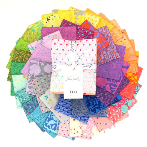 This Factory Cut FAT QUARTER bundle contains 42 quilting cotton prints from True Colors by Tula Pink for Freespirit Fabrics  Manufacturer: FreeSpirit Fabrics Designer: Tula Pink Collection: True Colors Material: 100% Cotton  Weight: Quilting